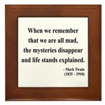 Mark Twain 14 Framed Tile
