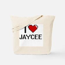 I Love Jaycee Digital Retro Design Tote Bag
