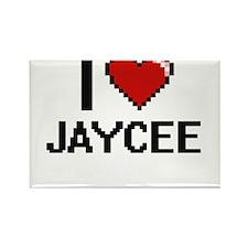 I Love Jaycee Digital Retro Design Magnets
