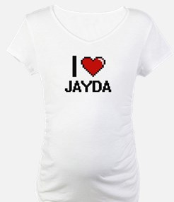 I Love Jayda Digital Retro Desig Shirt