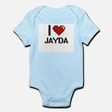 I Love Jayda Digital Retro Design Body Suit