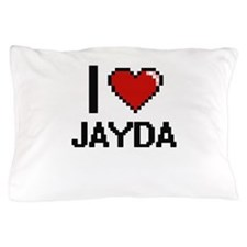 I Love Jayda Digital Retro Design Pillow Case