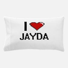 I Love Jayda Digital Retro Design Pillow Case