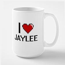 I Love Jaylee Digital Retro Design Mugs