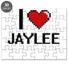 I Love Jaylee Digital Retro Design Puzzle