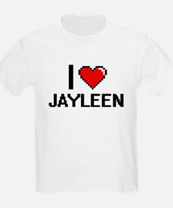 I Love Jayleen Digital Retro Design T-Shirt