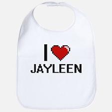 I Love Jayleen Digital Retro Design Bib