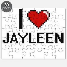 I Love Jayleen Digital Retro Design Puzzle