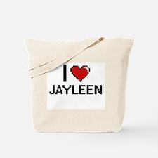 I Love Jayleen Digital Retro Design Tote Bag