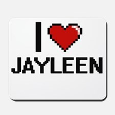 I Love Jayleen Digital Retro Design Mousepad