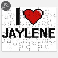 I Love Jaylene Digital Retro Design Puzzle