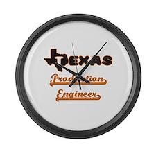 Texas Production Engineer Large Wall Clock