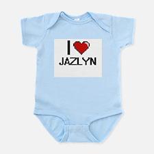 I Love Jazlyn Digital Retro Design Body Suit