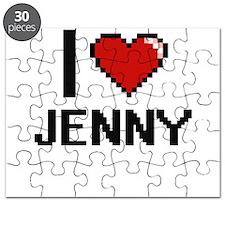 I Love Jenny Digital Retro Design Puzzle