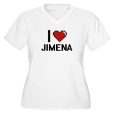 I Love Jimena Digital Retro Desi Plus Size T-Shirt