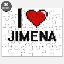 I Love Jimena Digital Retro Design Puzzle