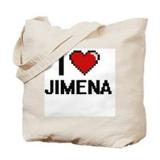 I Love Jimena Digital Retro Design Tote Bag