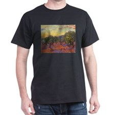 Van Gogh Olive Grove Orange Sky T-Shirt