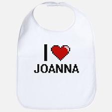 I Love Joanna Digital Retro Design Bib