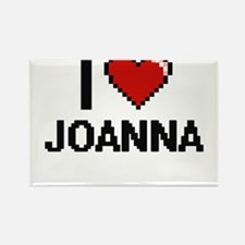 I Love Joanna Digital Retro Design Magnets