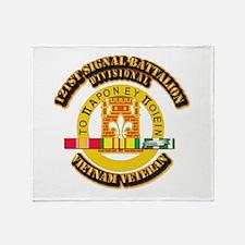 121st Signal Battalion (Divisional) Throw Blanket