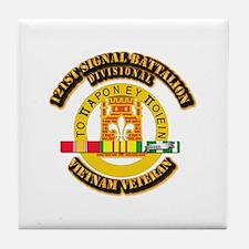 121st Signal Battalion (Divisional) w Tile Coaster