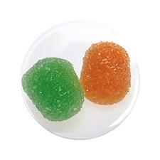 Orange and Green Gumdrops Button