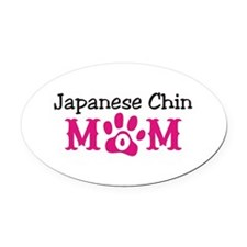Japanese Chin Oval Car Magnet