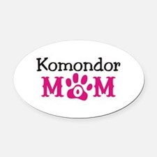 Komondor Oval Car Magnet