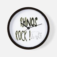 Rhinos Rock ! Wall Clock