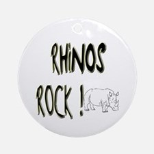 Rhinos Rock ! Ornament (Round)