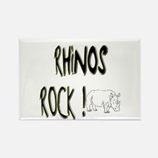 Rhinos Rock ! Rectangle Magnet