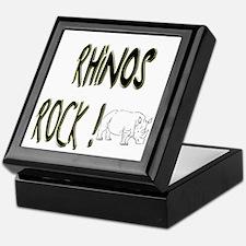 Rhinos Rock ! Keepsake Box