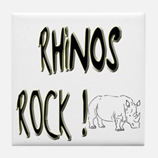 Rhinos Rock ! Tile Coaster