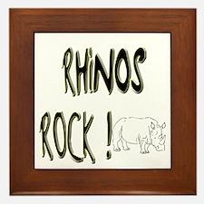Rhinos Rock ! Framed Tile