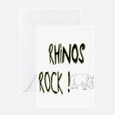 Rhinos Rock ! Greeting Card