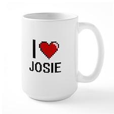 I Love Josie Digital Retro Design Mugs