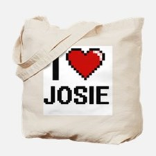 I Love Josie Digital Retro Design Tote Bag