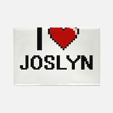 I Love Joslyn Digital Retro Design Magnets
