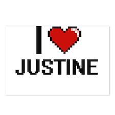 I Love Justine Digital Re Postcards (Package of 8)