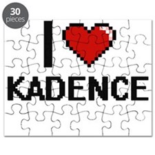 I Love Kadence Digital Retro Design Puzzle