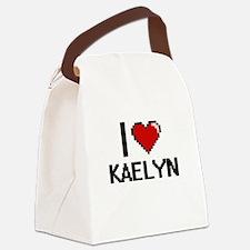 I Love Kaelyn Digital Retro Desig Canvas Lunch Bag