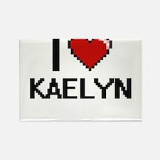 I Love Kaelyn Digital Retro Design Magnets
