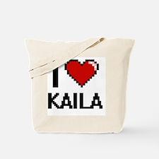 I Love Kaila Digital Retro Design Tote Bag
