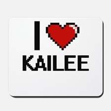 I Love Kailee Digital Retro Design Mousepad