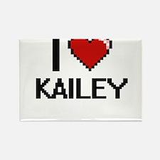I Love Kailey Digital Retro Design Magnets