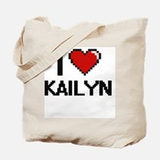 I Love Kailyn Digital Retro Design Tote Bag