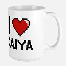 I Love Kaiya Digital Retro Design Mugs