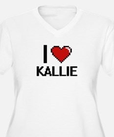 I Love Kallie Digital Retro Desi Plus Size T-Shirt