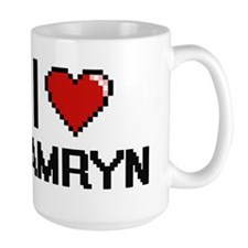 I Love Kamryn Digital Retro Design Mugs